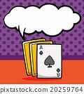 poker card doodle, speech bubble 20259764