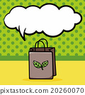 Recycled shopping bag doodle, speech bubble 20260070