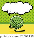 Yarn doodle, speech bubble 20260439