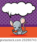 Chinese Zodiac rat doodle, speech bubble 20260743