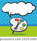 Palette doodle, speech bubble 20261066