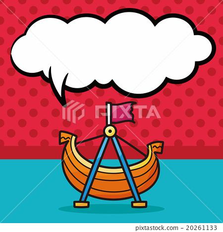Pirate Ship doodle, speech bubble 20261133