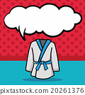 Karate suit doodle, speech bubble 20261376
