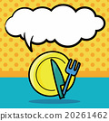tableware color doodle, speech bubble 20261462
