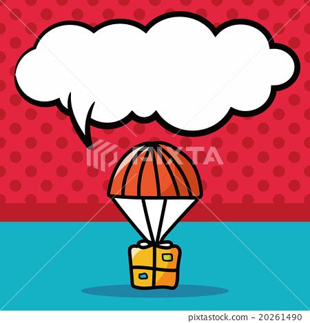 air box color doodle, speech bubble 20261490
