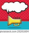 trumpet doodle, speech bubble 20261604