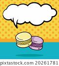 Macaron doodle, speech bubble 20261781