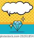 diamond doodle, speech bubble 20261854