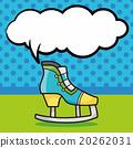 Roller skates doodle, speech bubble 20262031