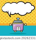 rice cooker doodle, speech bubble 20262331