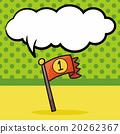 race flag doodle, speech bubble 20262367