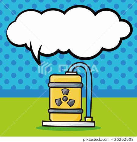 nuclear power doodle, speech bubble 20262608