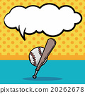 baseball doodle, speech bubble 20262678