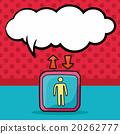 Elevator doodle, speech bubble 20262777