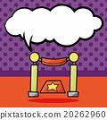 Fence doodle, speech bubble 20262960