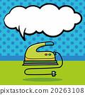 Iron doodle, speech bubble 20263108