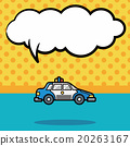 police car doodle, speech bubble 20263167