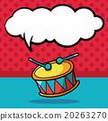 drum doodle, speech bubble 20263270