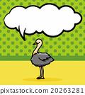animal Ostrich doodle, speech bubble 20263281