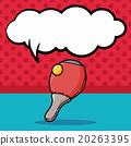 Table tennis doodle, speech bubble 20263395