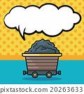 Gravel trucks doodle, speech bubble 20263633