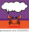 sea animal crab doodle, speech bubble 20263652