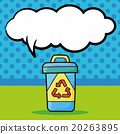 recycled garbage doodle, speech bubble 20263895