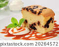 Sponge cake with chocolate chips 20264572