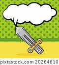 sword doodle, speech bubble 20264610