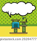 cat tree doodle, speech bubble 20264777
