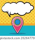 GPS doodle, speech bubble 20264779