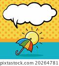 umbrella doodle, speech bubble 20264781