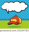 hat color doodle, speech bubble 20264783