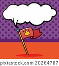 race flag doodle, speech bubble 20264787