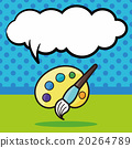 Palette color doodle, speech bubble 20264789