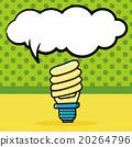 bulb doodle, speech bubble 20264796