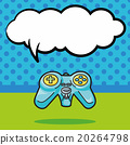 game controller doodle, speech bubble 20264798