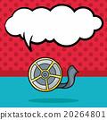 film tape doodle, speech bubble 20264801