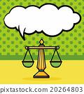 balance doodle, speech bubble 20264803
