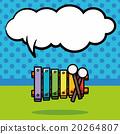 musical instrument piano doodle, speech bubble 20264807