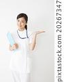 医疗图象白色礼服的少妇护士 20267347