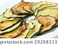 Roasted zucchini slices 20268313