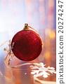 Red christmas tree ball 20274247