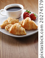 Breakfast with coffee and croissant 20274579