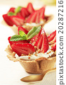 strawberries pastry tart 20287216