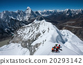 A view of Himalayas from the Island peak summit 20293142