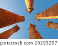 Columns of the Roman Temple of Artemis in Jerash 20293297