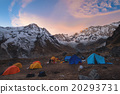 Mountaineering camp with Annapurna range 20293731