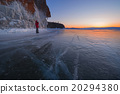 Baikal lake in wintertime, Siberia, Russia 20294380