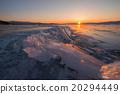 Baikal lake in wintertime, Siberia, Russia 20294449